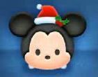 クリスマスミッキー顔